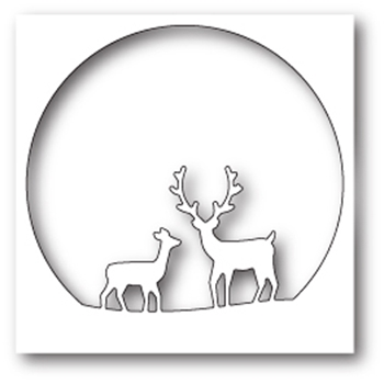 Memory Box DEER FAMILY CIRCLE Craft Die 99575