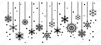 Impression Obsession Cling Stamp SNOWFLAKE DANGLES F14562 Preview Image