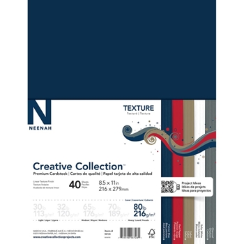 Neenah TEXTURE Creative Collection Premium Cardstock 8.5 x 11 Assortment 98726