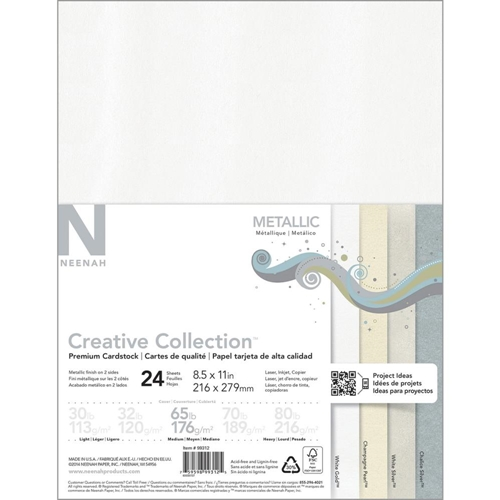 Neenah METALLIC Creative Collection Premium Cardstock 8.5 x 11 Assortment 99312 Preview Image