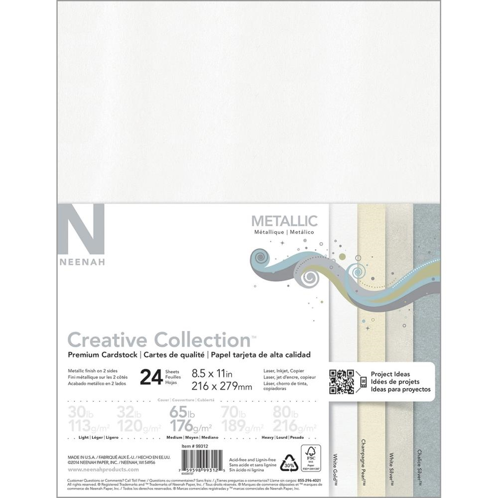 Neenah METALLIC Creative Collection Premium Cardstock 8.5 x 11 Assortment 99312 zoom image