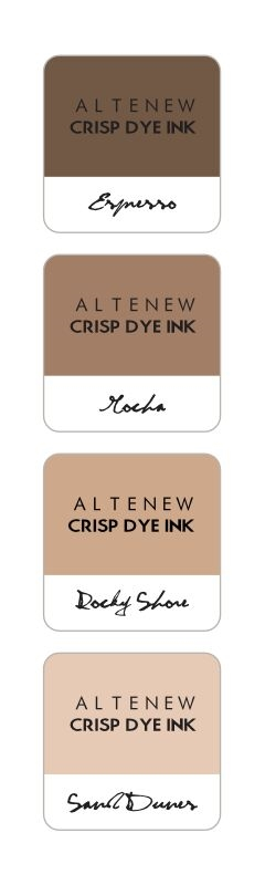 Altenew COFFEE BREAK Mini Cube Crisp Dye Ink Pad Pack ALT1249 zoom image