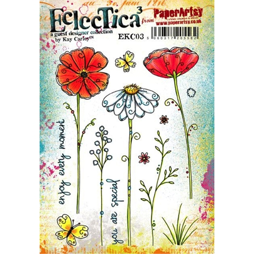 Paper Artsy ECLECTICA3 KAY CARLEY 03 Rubber Cling Stamp EKC03 Preview Image
