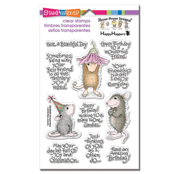 Stampendous Clear Stamps FRIEND WISHES House Mouse SSCM5003 zoom image