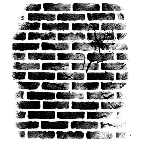 Wendy Vecchi Background Cling Rubber Stamp CRACKED BRICK WALL Studio 490 WVBG031 Preview Image