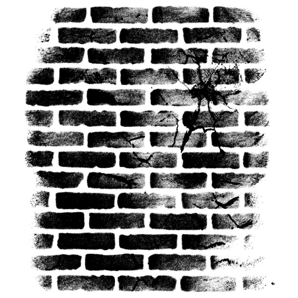 Wendy Vecchi Background Cling Rubber Stamp CRACKED BRICK WALL Studio 490 WVBG031 zoom image