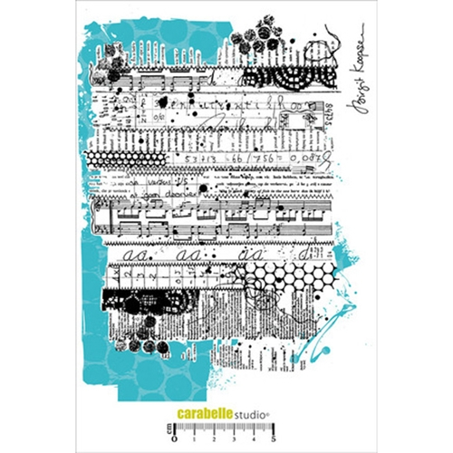 Carabelle Studio STITCHED MIXED MEDIA BACKGROUND A5 Cling Stamp SA50015 Preview Image