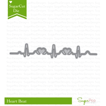 SugarPea Designs HEART BEAT SugarCuts Dies SPD00175