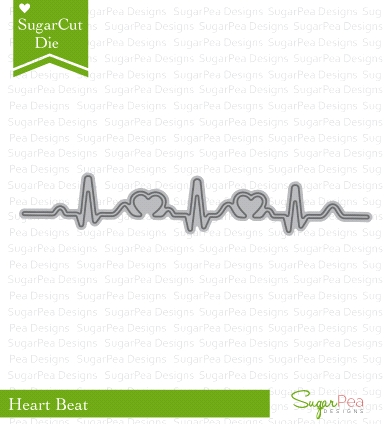 SugarPea Designs HEART BEAT SugarCuts Dies SPD00175 zoom image