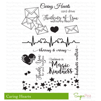 SugarPea Designs CARING HEARTS Clear Stamp Set SPD00172