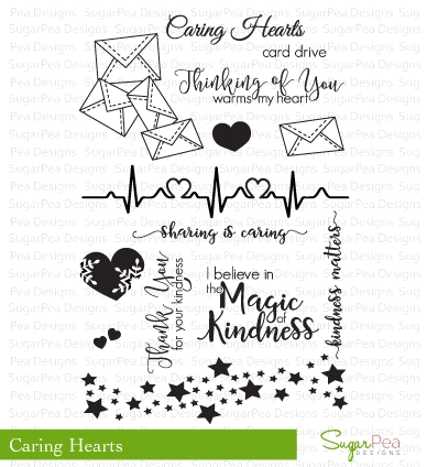SugarPea Designs CARING HEARTS Clear Stamp Set SPD00172 zoom image