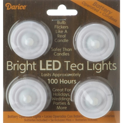 Darice BRIGHT LED TEA LIGHTS Battery Operated Candles 620190 Preview Image