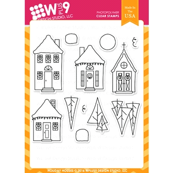 Wplus9 HOLIDAY HOUSES Clear Stamps CLWP9HOHO