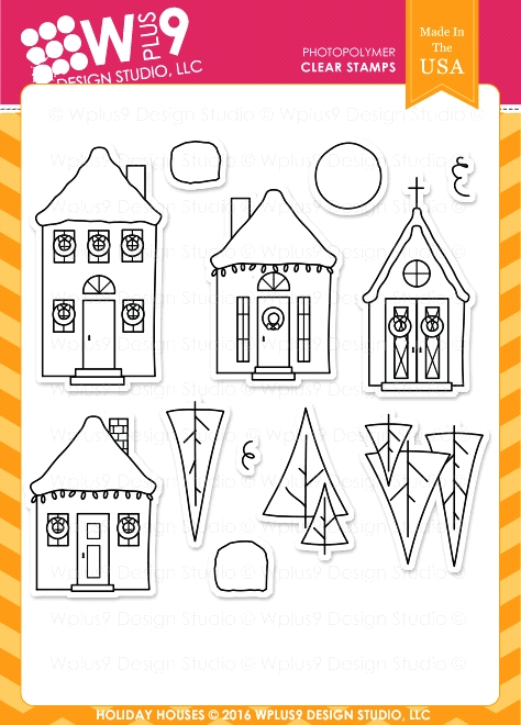 Wplus9 HOLIDAY HOUSES Clear Stamps CLWP9HOHO zoom image