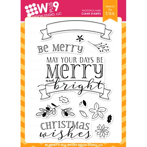 Wplus9 BE MERRY Clear Stamps CLWP9BEME* Preview Image
