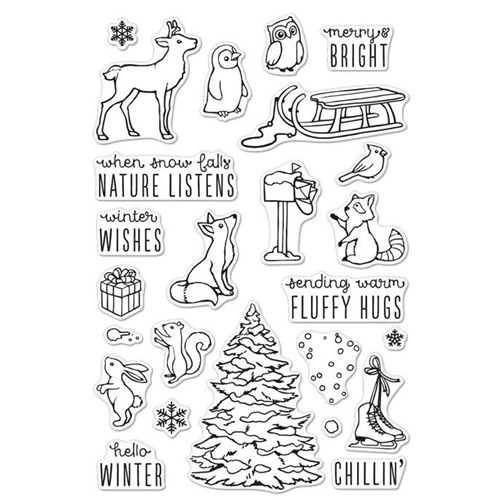 Hero Arts Clear Stamps WINTER TIME FUN CM120 Preview Image