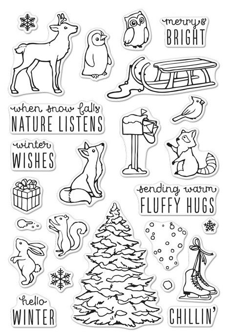 Hero Arts Clear Stamps WINTER TIME FUN CM120 zoom image