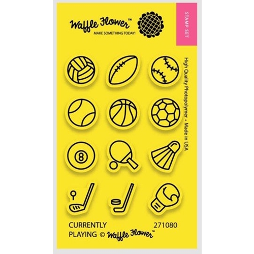 Waffle Flower CURRENTLY PLAYING Clear Stamp Set 271080 Preview Image