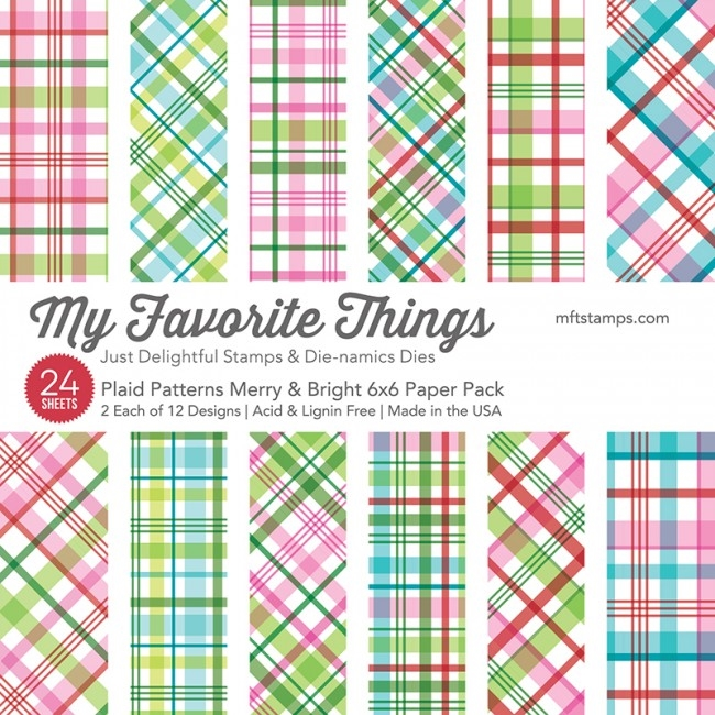 My Favorite Things MERRY AND BRIGHT PLAID PATTERNS 6x6 Paper Pack 15230 zoom image