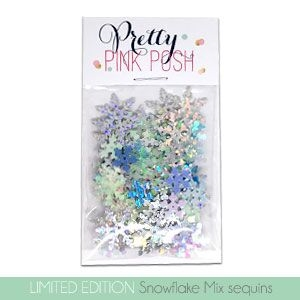 Pretty Pink Posh SNOWFLAKE Sequin Mix  Preview Image