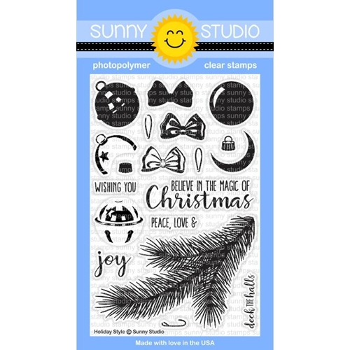 Sunny Studio HOLIDAY STYLE Clear Stamp Set SSCL 142 Preview Image