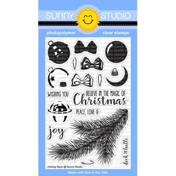 Sunny Studio HOLIDAY STYLE Clear Stamp Set SSCL-142