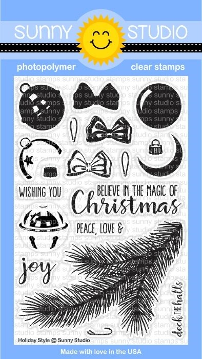Sunny Studio HOLIDAY STYLE Clear Stamp Set SSCL 142 zoom image