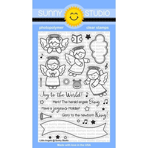 Sunny Studio LITTLE ANGELS Clear Stamp Set SSCL-144 Preview Image
