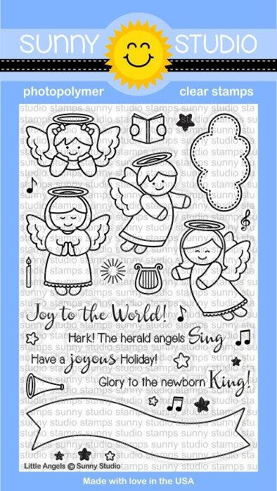 Sunny Studio LITTLE ANGELS Clear Stamp Set SSCL-144 zoom image