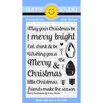 Sunny Studio MERRY SENTIMENTS Clear Stamp Set SSCL-147