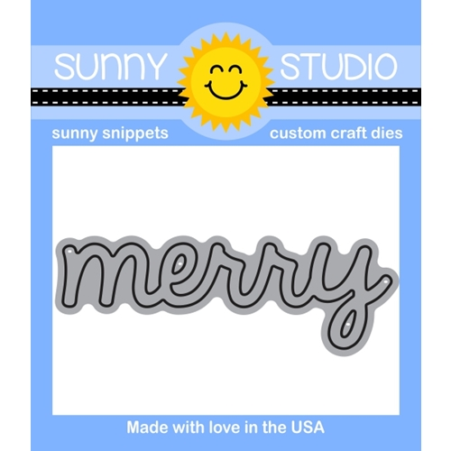 Sunny Studio MERRY WORD Snippets Die SunnySS-803 Preview Image