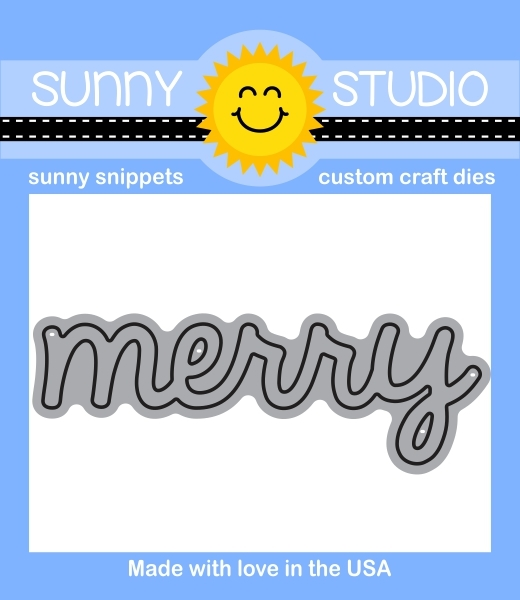 Sunny Studio MERRY WORD Snippets Die SunnySS-803 zoom image