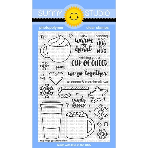 Sunny Studio MUG HUGS Clear Stamp Set SSCL-141  Preview Image
