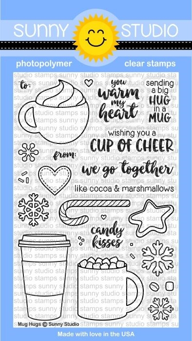 Sunny Studio MUG HUGS Clear Stamp Set SSCL-141  zoom image