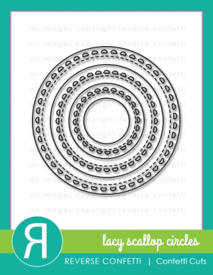 Reverse Confetti Cuts LACY SCALLOP CIRCLES Die Set Preview Image