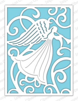 Impression Obsession Steel Dies ANGEL BACKGROUND DIE470-YY Preview Image