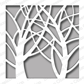 Impression Obsession Steel Dies SQUARE TREE WINDOW DIE458-ZZ* Preview Image