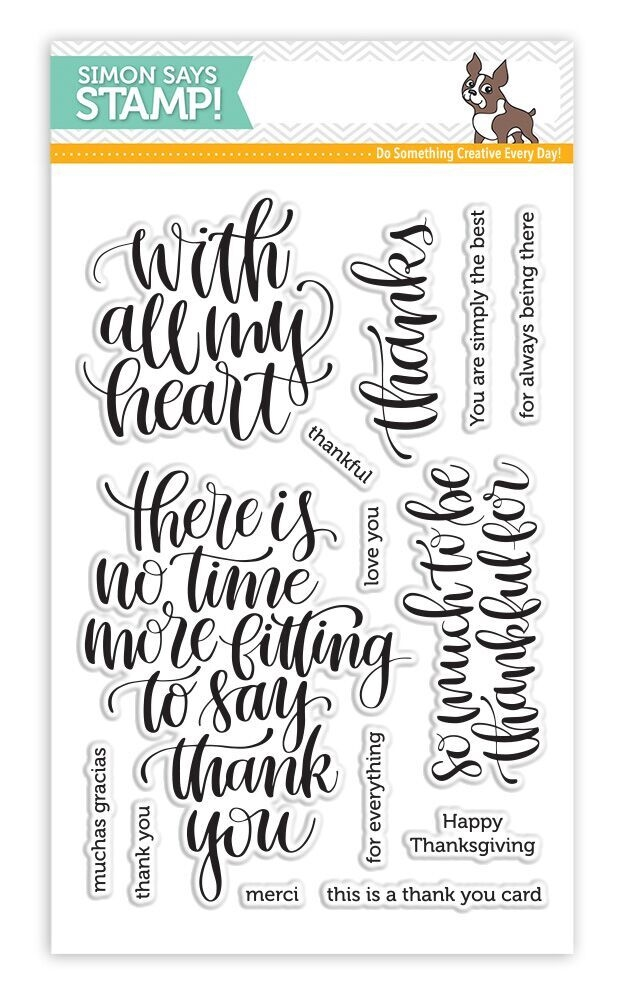 Simon Says Clear Stamps THANKFUL HEART SSS101684 zoom image