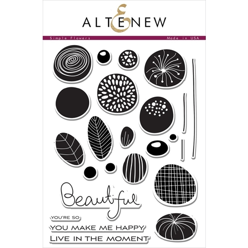 Altenew SIMPLE FLOWERS Clear Stamp Set ALT1413 Preview Image