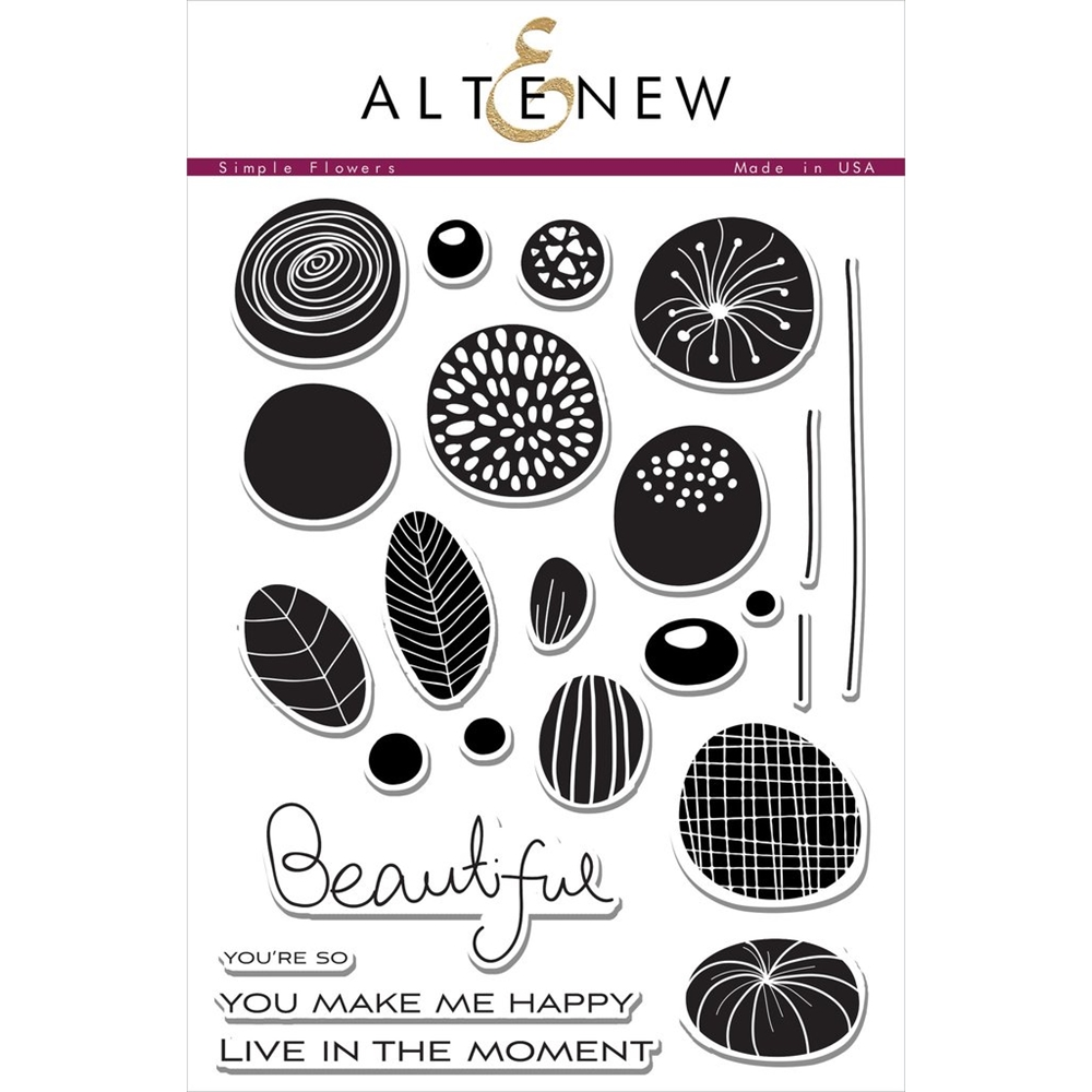 Altenew SIMPLE FLOWERS Clear Stamp Set ALT1413 zoom image