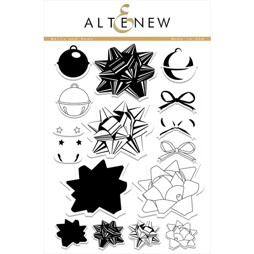 Altenew BELLS AND BOWS Clear Stamp Set ALT1403* Preview Image