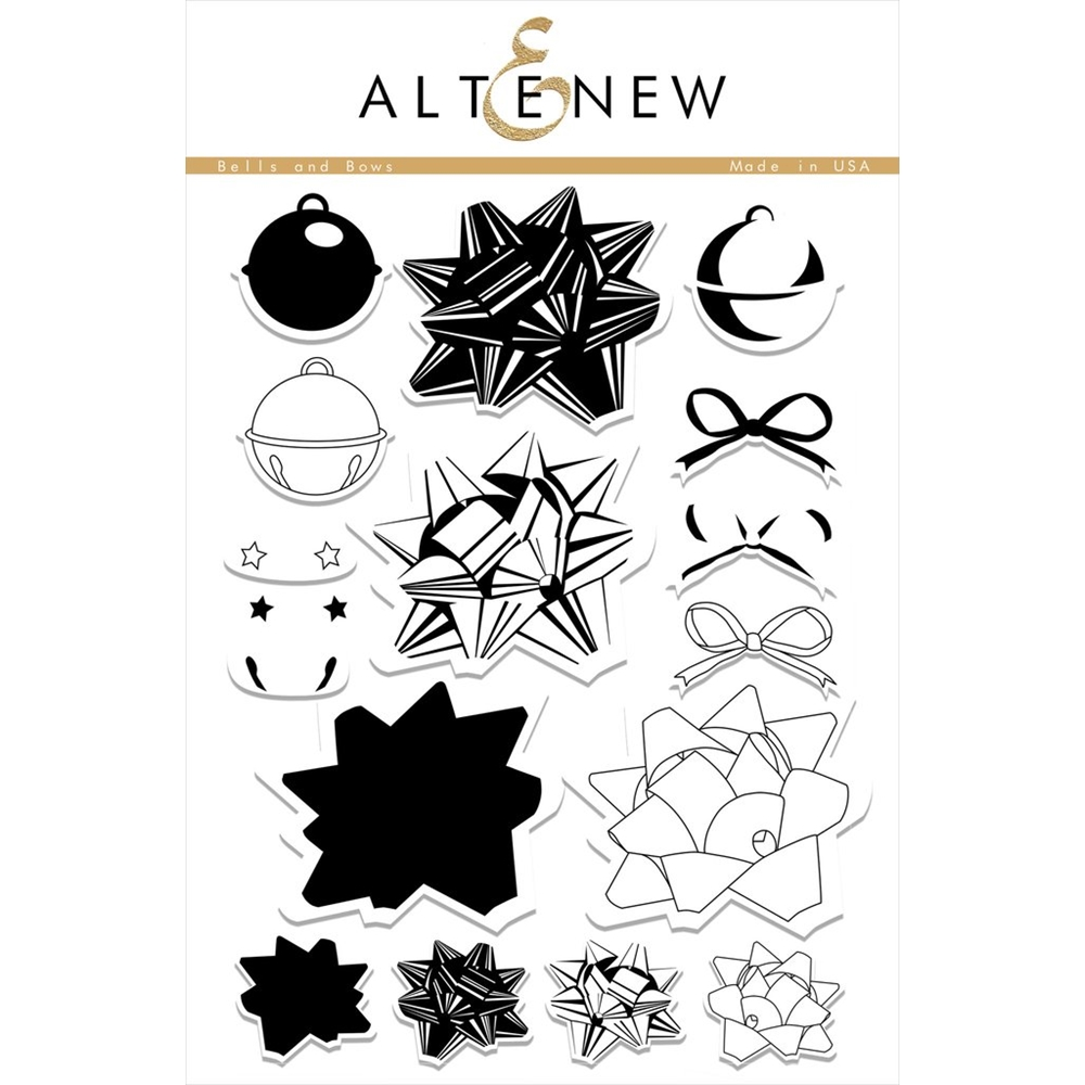 Altenew BELLS AND BOWS Clear Stamp Set ALT1403* zoom image