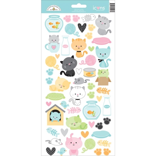 Doodlebug KITTEN SMITTEN Icons Cardstock Stickers 5247 Preview Image