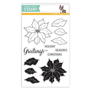 Simon Says Clear Stamps POINSETTIA SSS101651 *