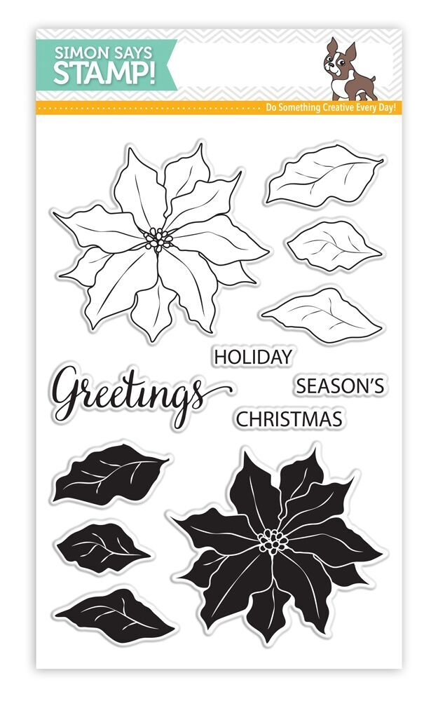 Simon Says Clear Stamps POINSETTIA SSS101651 * zoom image