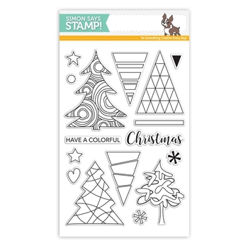 Simon Says Clear Stamps COLOR ME TREES SSS101652 Believe In The Season
