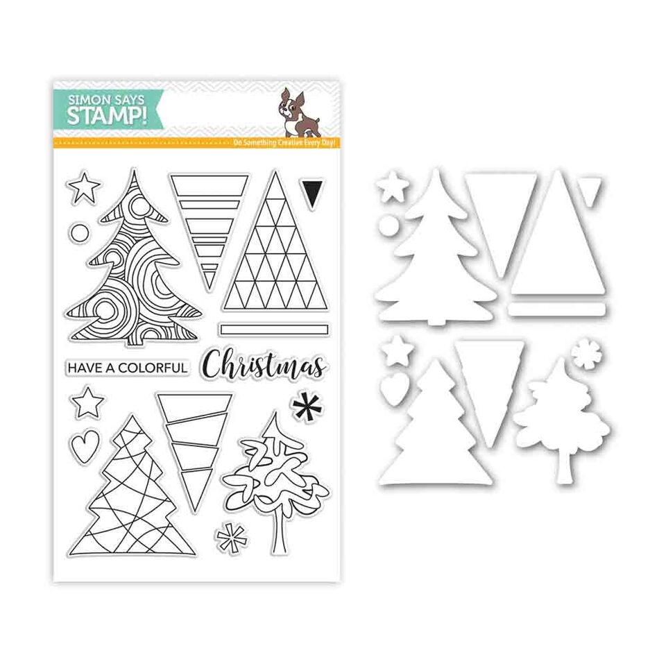 Simon Says Stamps And Dies COLOR ME TREES Set282CT Believe In The Season zoom image