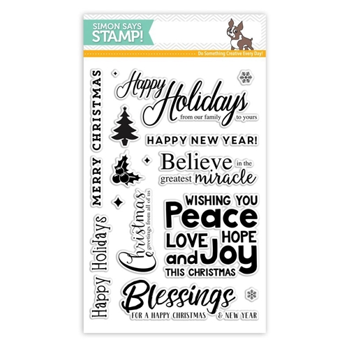 Simon Says Clear Stamps HAPPY CHRISTMAS SSS101675 Believe In The Season Preview Image
