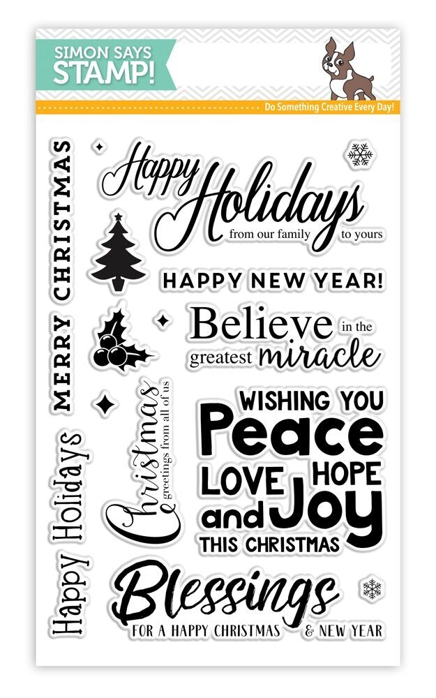 Simon Says Clear Stamps HAPPY CHRISTMAS SSS101675 Believe In The Season zoom image