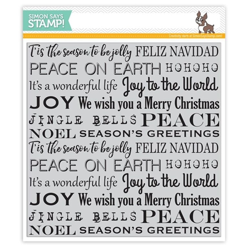 Simon Says Cling Stamps HOLIDAY BACKGROUND SSS101653 Believe In The Season Preview Image